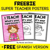 FREE Superhero Teacher Appreciation Posters