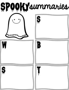 FREEBIE! SWBST Graphic Organizers for Spooky Summaries!