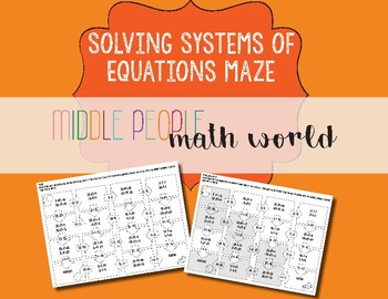 FREEBIE: SYSTEMS OF EQUATIONS MAZE