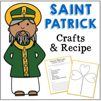 FREEBIE! Saint Patrick Craft and Recipe - March Saint Feast Day