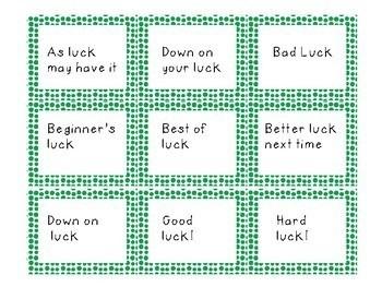FREEBIE Saint Patrick's Day Idiom Task Cards
