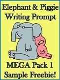 FREEBIE Sample - Elephant & Piggie Writing Prompt Mega Pack 1