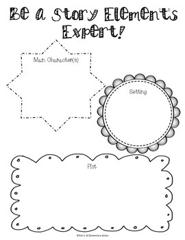FREEBIE- Sample Reading Literature Common Core Graphic Organizers (2nd Grade)