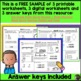 FREEBIE Sample from: 3rd Grade Daily Math Morning Work or