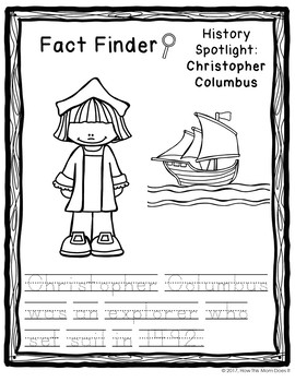 FREEBIE - Sample from Christopher Columbus Research Project
