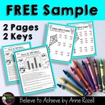 FREEBIE Sample from: No Prep! Grade 2! Math for April!