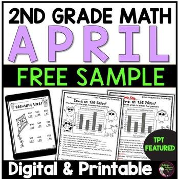2nd Grade Math for April - FREE Sample