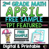 FREEBIE Sample from: No Prep! Grade 2! Math for April!