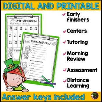 FREEBIE Sample from: No Prep! Grade 3! Math for March!