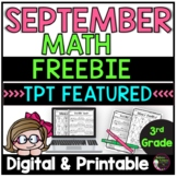 3rd Grade Math for September- FREEBIE