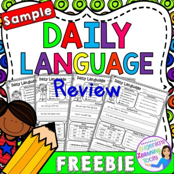 FREEBIE Sample of Daily Language Review - Grammar Practice