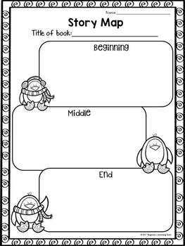 FREEBIE Sample Reading Graphic Organizers for Reading Comprehension: Winter