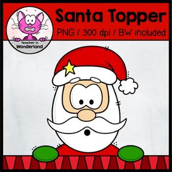 FREEBIE: Santa Claus Topper/ Peeker clipart for christmas