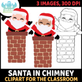 FREEBIE - Santa in Chimney Clipart (Lime and Kiwi Designs)