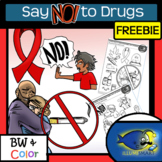 FREEBIE- Say NO! to Drugs! Clip-Art and Picture Pages Combo!