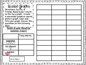 FREEBIE: Scaled Bar Graphs & Pictographs!!!