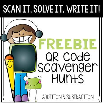 FREEBIE- Scan It, Solve It, Write It! QR code Scavenger Hunt