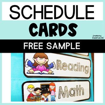 FREEBIE Schedule Cards