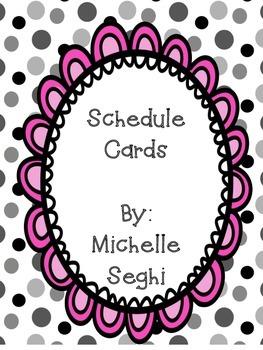FREEBIE Schedule Cards - Polka Dots