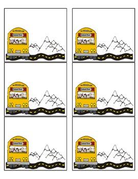 FREEBIE!  School Bus Name Tags