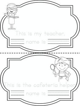 FREEBIE! School Helpers Mini Book