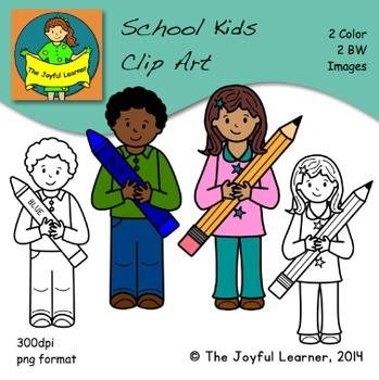 Clip Art: School Kids FREEBIE