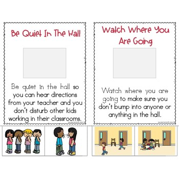 School Rules Little Book: Hallway Expectations