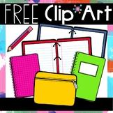 FREEBIE School Supplies Clip Art