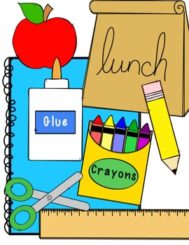 FREEBIE! School Supply Clip Art by Brittany Nelson | TpT