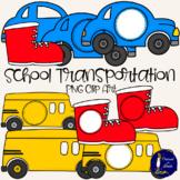 FREEBIE - School Transportation Clip Art