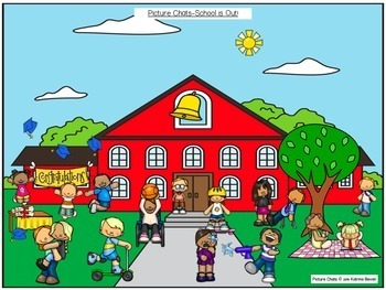 FREEBIE! School is out! Picture Chat!- Vocabulary, 'wh' questions and discussion