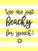 FREEBIE Seasonal Speech Room Posters
