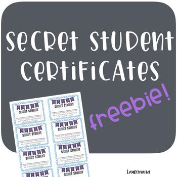 FREEBIE! Secret Student Forms