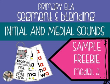 FREEBIE Segmenting and Blending Initial and Medial Sounds {Short a}