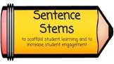 FREEBIE Sentence Stems for Student Success