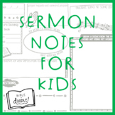 FREEBIE! Sermon Notes for Kids (Elementary)