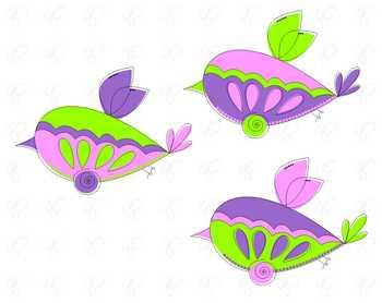 FREEBIE Set 01: Butterfly Birds Clipart by Poppydreamz
