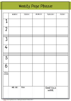 FREEBIE- Setting Schedules