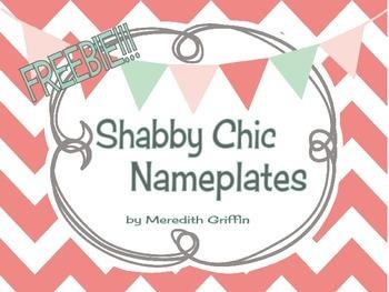FREEBIE!!!  Shabby Chic Nameplates Kit Rustic Burlap