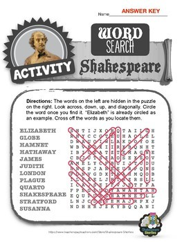 FREEBIE: Shakespeare Word Search