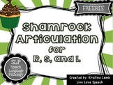 Shamrock Articulation for R, S, and L {FREEBIE}