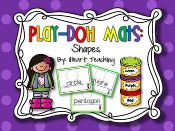 {FREEBIE} Shape Play-Doh Mats