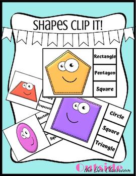FREEBIE Shapes Clip-It!!