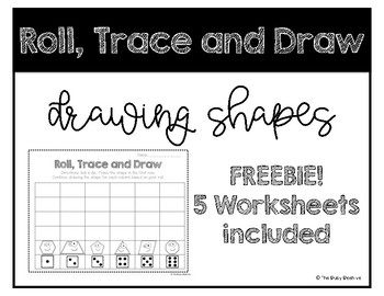 FREEBIE - Shapes Roll, Trace and Draw