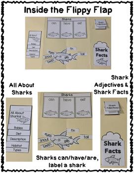 FREEBIE Shark Flippy Flaps Interactive Notebook Lapbook