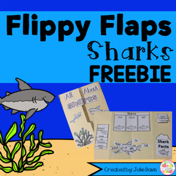 FREEBIE Shark Flippy Flaps Interactive Notebook Lapbook