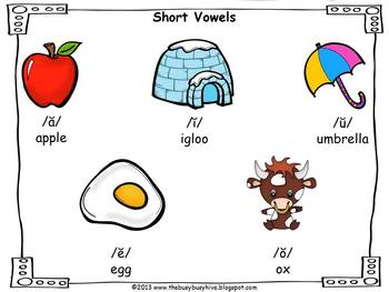 FREEBIE Short Vowels posters
