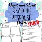 FREEBIE - Short and Sweet Reading Response Sheet