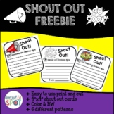 FREEBIE Shout Out Cards