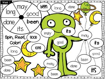 FREEBIE Sight Word Activities Packet 2 {SAMPLE}